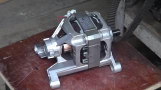 Полировка коллектора двигателя стиральной машины.