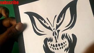 learn paper cut   GHOST IN A BUTTERFLY   paper cutting art   #papercuttingart
