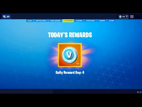 *NEW* FREE DAILY LOG IN REWARD SYSTEM In Fortnite (Daily Free Items)