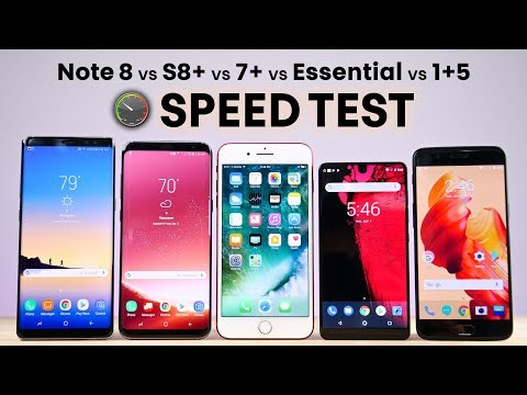 Galaxy Note 8 vs S8 Plus vs 7+ vs Essential vs 1+5 SPEED Test!