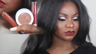 bold eyes and lips makeup tutorial ft kaepop karrueche x colourpop swatches  woc artis brushes dupe