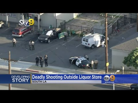 2 Men Dead, 1 Hurt In Shooting At South LA Liquor Store