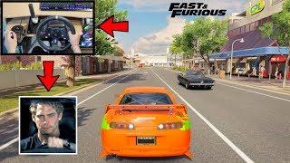 Forza Horizon 3 Driving Like A BOSS (Steering Wheel + Shifter + E-brake Mod) Paul Toyota Supra