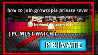How to join growtopia private sever [PC] || [ MUST CLICK ]