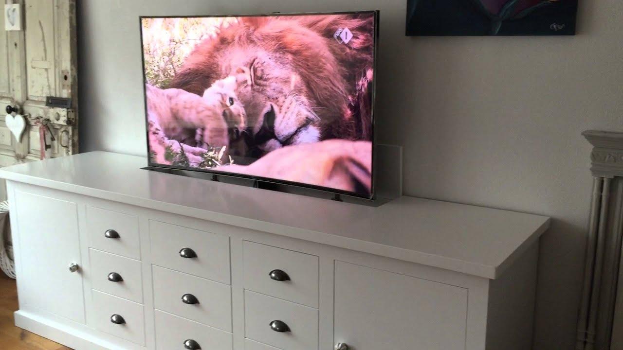 Tv Meubel Billy.Tv Lift Zelf Gemaakt Incl Kast Youtube