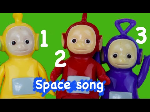 Teletubbies Nursery Rhymes  3 Little Men in a Flying Saucer  Space Song