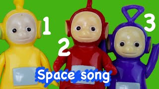 Teletubbies Nursery Rhymes | 3 Little Men in a Flying Saucer | Space Song