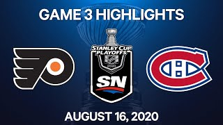 NHL Highlights | 1st Round, Game 3: Flyers vs. Canadiens - Aug 16, 2020