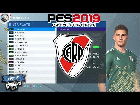 Pro Evolution Soccer 2019 River Plate Caras Ratings Superliga