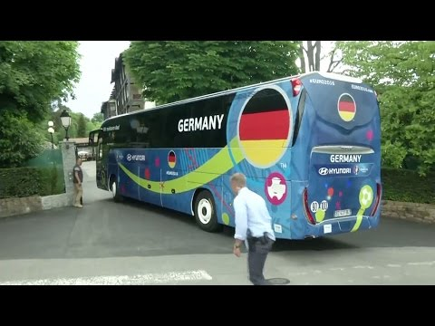 World Champions Germany Arrive At Their Team Base For Euro 2016 In Evian-les-bains