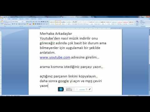 Youtube müzik indirme - bilgisayara şarkı indirme