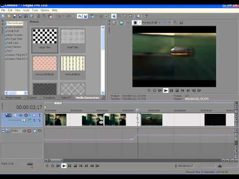 how to make sony vegas blur with motion effect