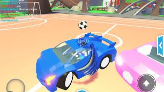 Playing rocket league in roblox