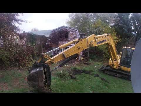 Demolishing a Garage in Wilkes-Barre, Pennsylvania