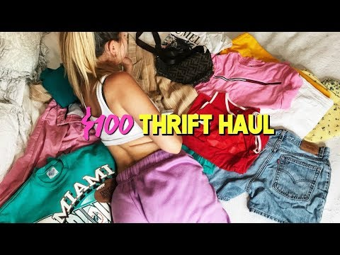 What I got for $100 at Salvation Army! ☆ Try-On Thrift Haul