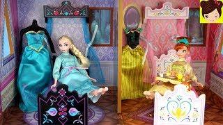 Frozen Elsa y Ana Rutina de Mañana Navideña - Castillo de Juguete Arendelle