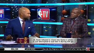 Rodney Hood Refused To Check Into Game 4 Late In A Blowout | NBA Gametime