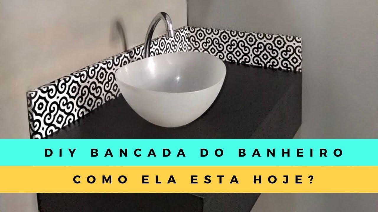 BANCADA DO BANHEIRO - COMO ELA ESTÁ HOJE? #diybanheiro #diy #tour #decor