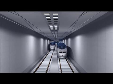 UNDERWATER - TUNNEL - RAILWAY