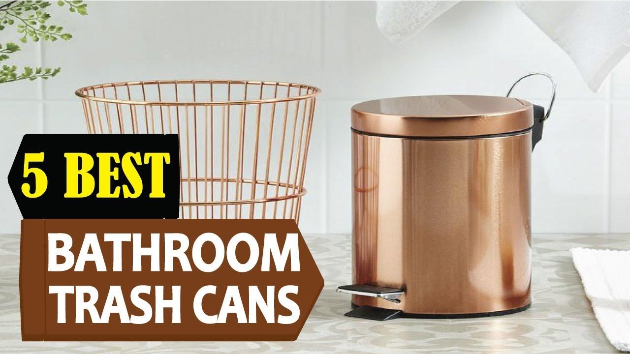 5 best bathroom trash cans 2018 best bathroom trash can reviews top 5 bathroom trash cans. Black Bedroom Furniture Sets. Home Design Ideas