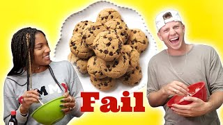 Couples Try Cooking Without Recipes *fail*  Tara and Hunter