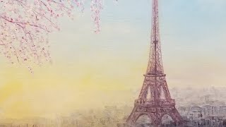 Eiffel Tower &quotSpringtime in Paris&quot Acrylic Painting LIVE Tutorial