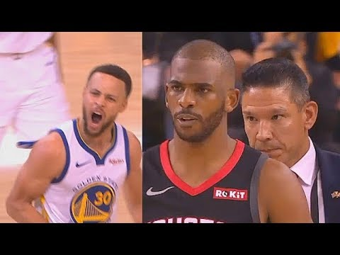 HIGHLIGHTS: Warriors vs. Rockets - CRAZY Game 1 (VIDEO) Chris Paul Gets Ejected!