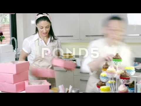 Time-Lapse Women in Home Bakery Business