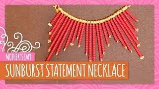 Diy Sunburst Statement Necklace- Hgtv Handmade