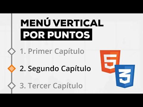 Como Hacer un Menú Vertical por Puntos (estilo temario) con HTML y CSS