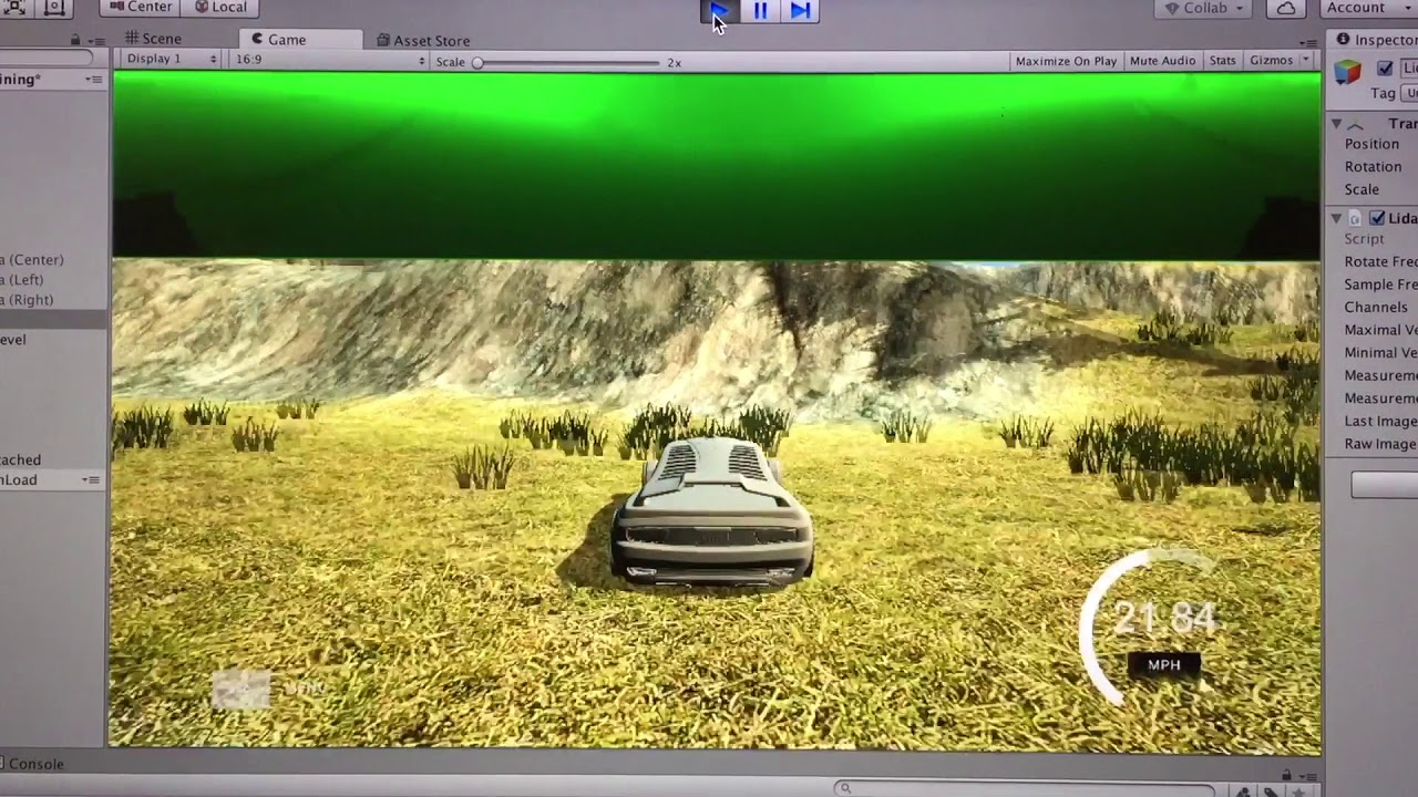 Unity 3D Self-Driving Car LiDAR Simulation