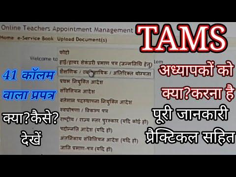 पूरी जानकारी,अध्यापकों के लिये TAMS पर कैसे ई-सर्विसबुक अपडेट/सुधार करे,देखें।प्रैक्टिकली वीडियो