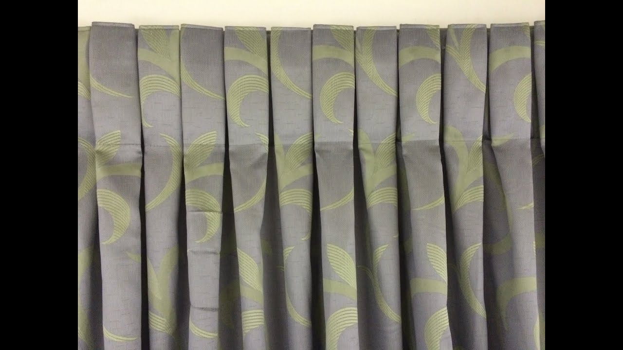 Box Pleat How To Make A Box Pleat Curtain YouTube