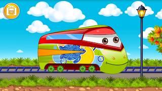 Let's Play • Train Wash • Myjnia dla pociągów, Ciuchcia, Lokomotywa, Bajki, Gry dla dzieci