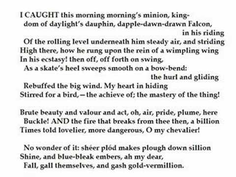 """The Windhover"" by Gerard Manley Hopkins (read by Tom O'Bedlam)"