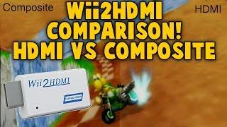 Wii2HDMI Comparison - HDMI vs Composite  - Review - Converter Elgato Quality Test Recording