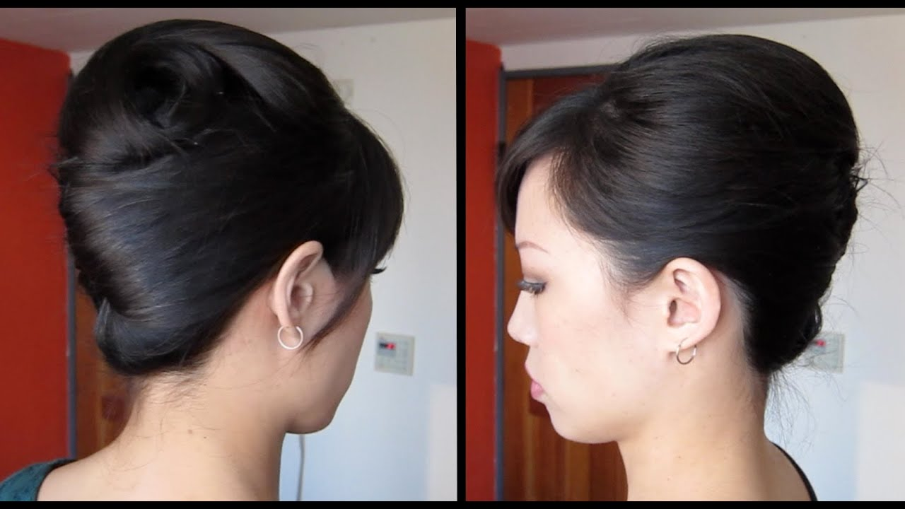 French Twist Tutorial Updo For Long Thick Hair YouTube