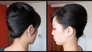 French twist tutorial updo for long, thick hair