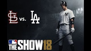 MLB The Show 18: 8/20/2018 - STL vs. LAD **Game 126**