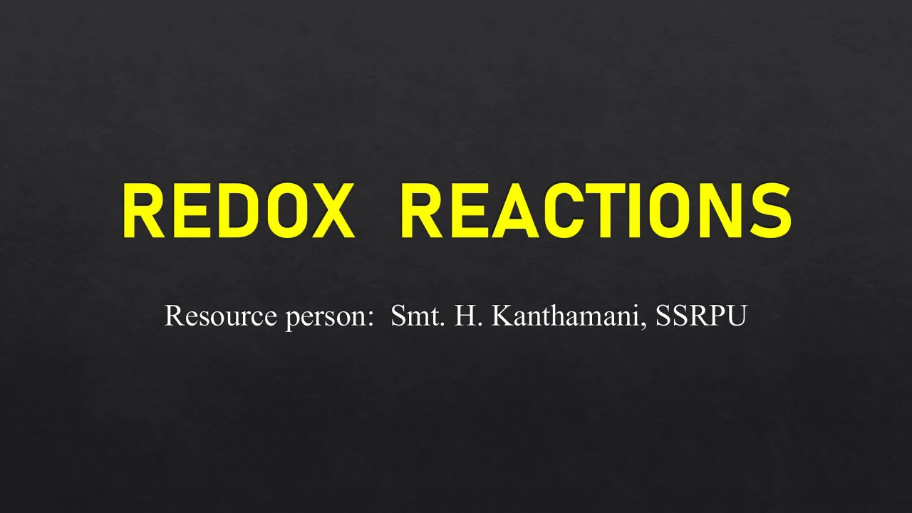 I PUC |CHEMISTRY | REDOX REACTION  - 05