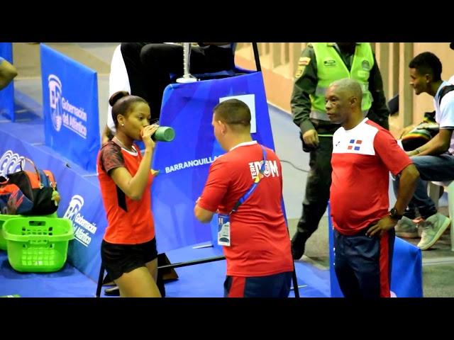 Badminton Centroamericano, Nairobi Jimenez (DOM) y Nikte  Sotomayor (GUA) en Barranquilla 2018