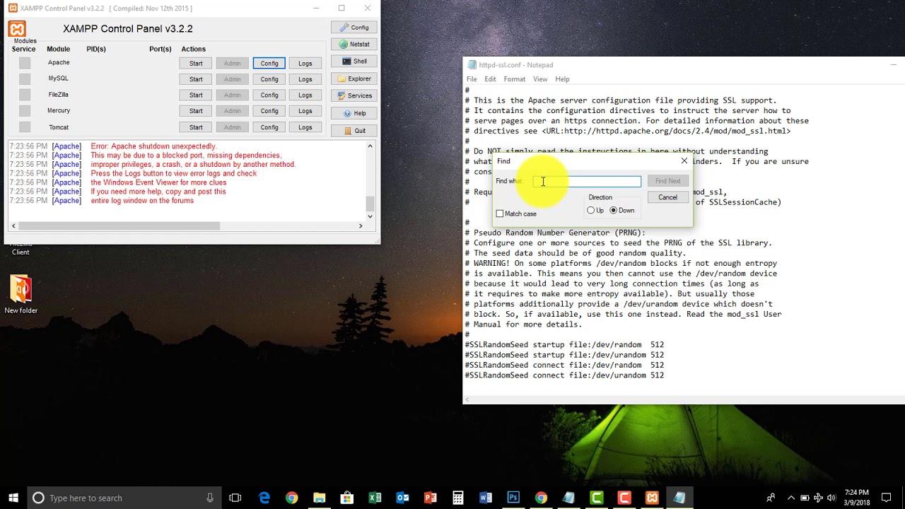 XAMPP | How to stop the VMware port error of 443 on XAMPP Control Panel  v3 2 1