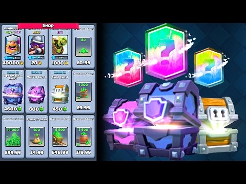 BUYING EVERYTHING from the SHOP!! ALL GEMS, CHESTS and CARDS PACKS in Clash Royale [ReTrex]