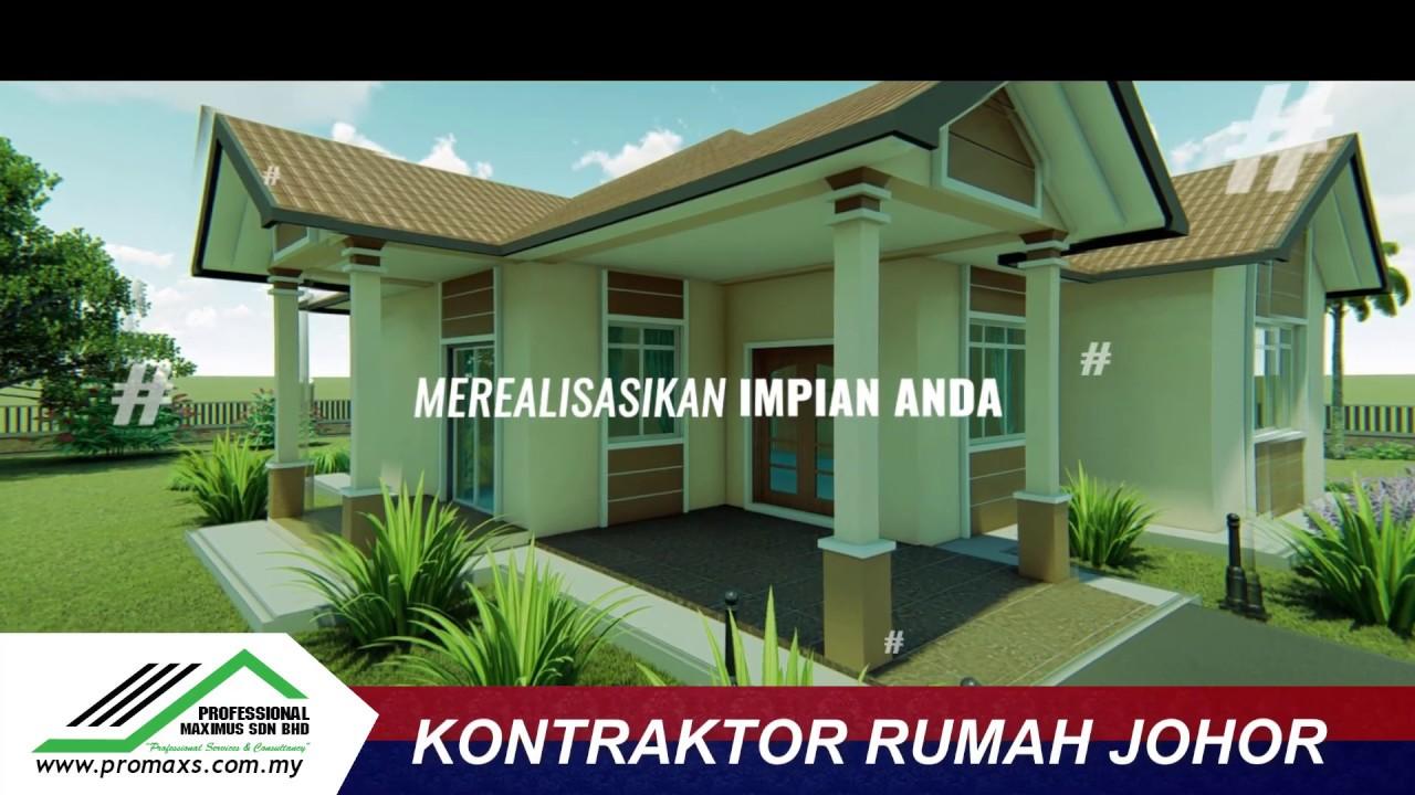 3d Design Rumah En Kamal V1 Kontraktor Bina Rumah Johor Youtube