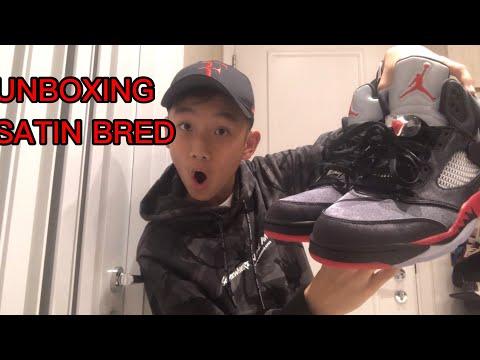 unboxing-air-jordan-5-satin-bred-|-on-foot-review-|