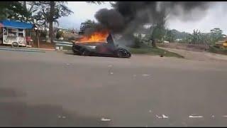 Viral  Lamborghini 13 M Milik Raffi Ahmad Terbakar