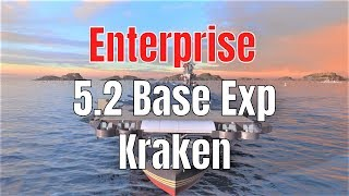 Enterprise T8 US CV | 5.2 Base Exp, 6 Kills | World of Warships