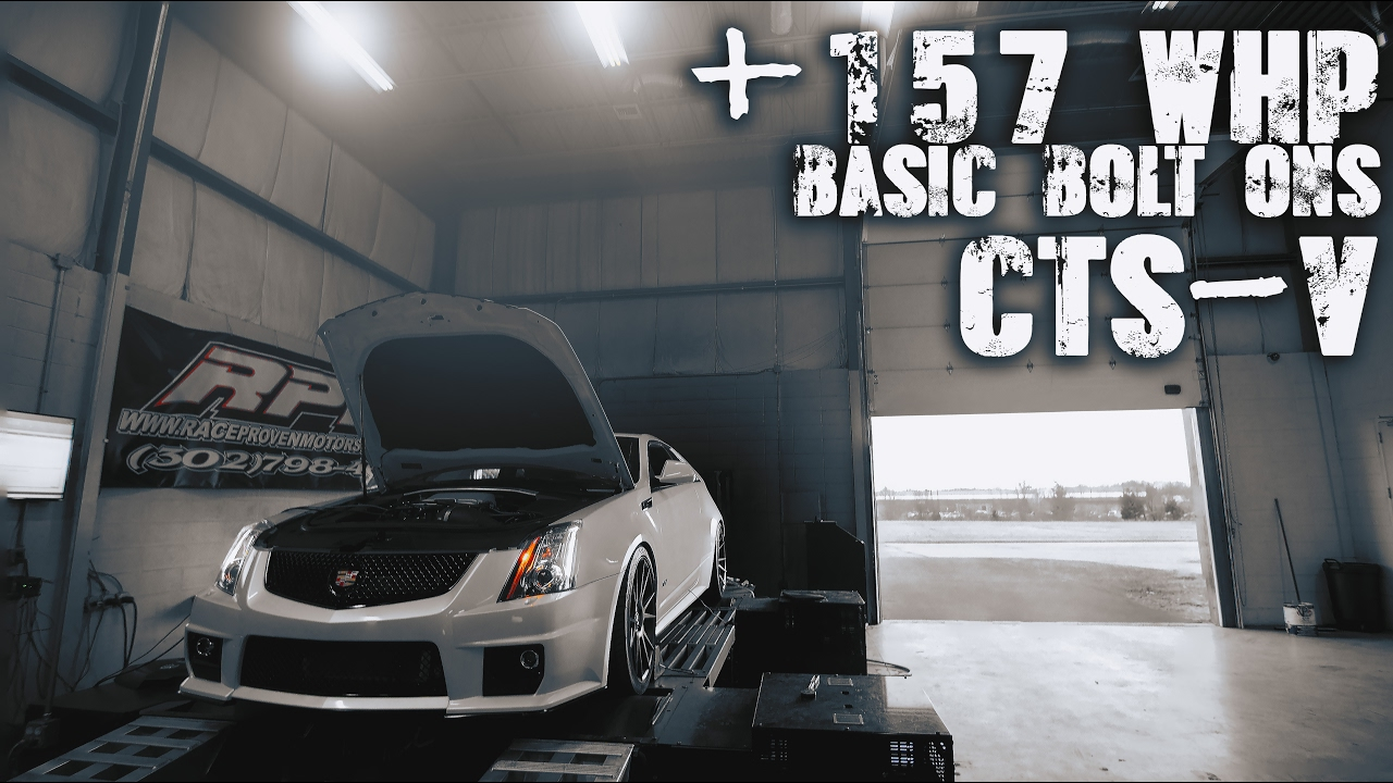 How to get +157whp with basic bolt ons CTS-V   RPM
