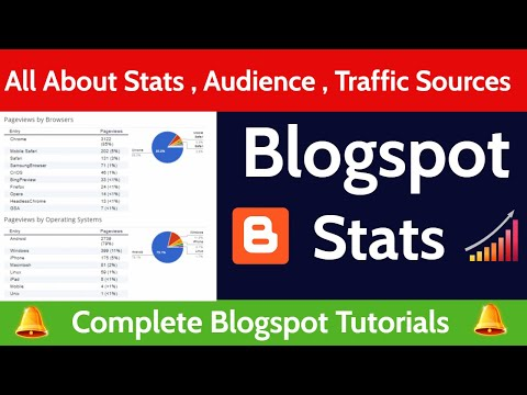 All About Blogger Stats , Audience , Traffic Sources and it's uses in Blogging.