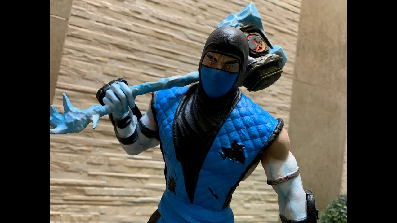Sub Zero Sculpture Kuai Liang 1 4 Scale Mortal Kombat 3d Printed Youtube